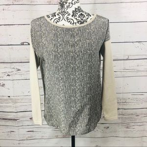 Max Mara Weekend Silk Front Knit Sweater Top XS